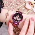 Новый стиль женские часы Лебедь звездное небо в моде женские часы водонепроницаемые Модные и простые кварцевые часы Подарки для женщин