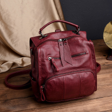 2020 New Women Backpack Female Casual Multifunction School Bag Designer Leather Shoulder Bags Women Travel Backpack mochila