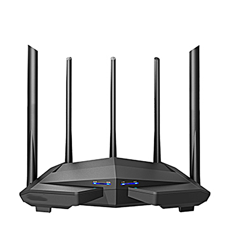 1200Mbps Gigabit Wifi Router Wireless Repeater Dual Band 2.4Ghz+5G 1WAN+3LAN Gigabit Ports 5*6 Dbi Gain Antenna MU-MIMO 1Ghz CPU