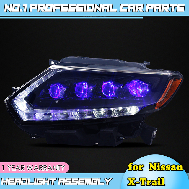 car accessories for Nissan X Trail Headlights 2014 17 Nissan X Trail LED Headlight DRL Lens Double Beam