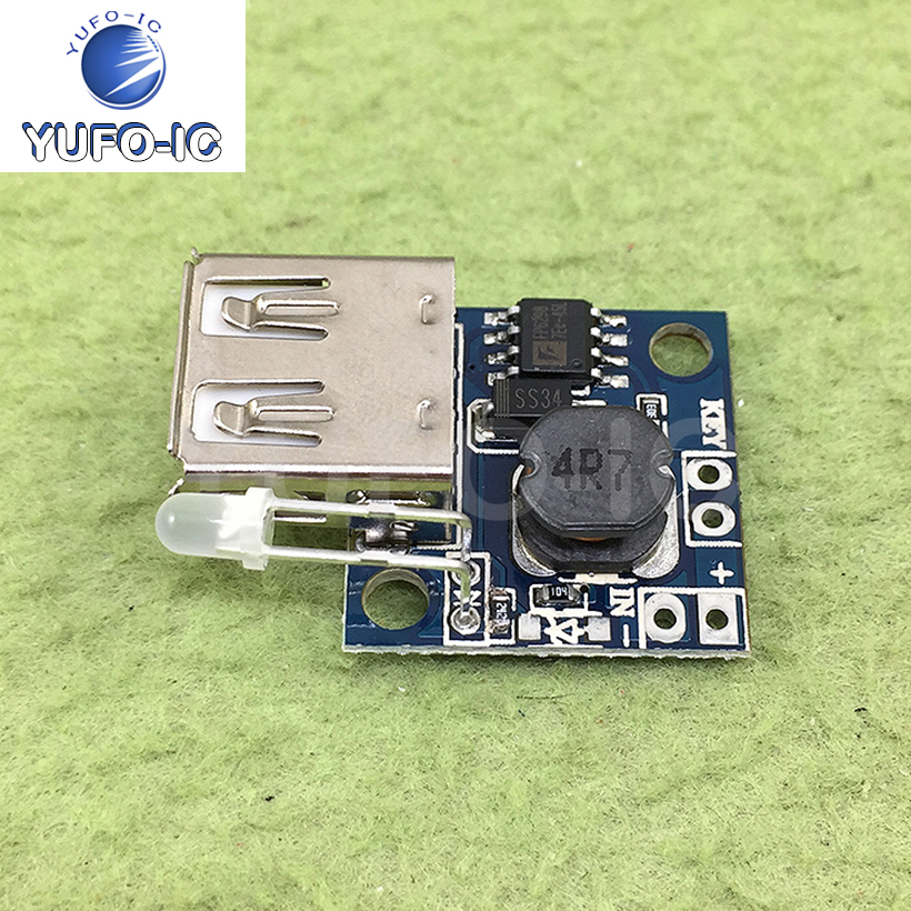 Free Ship 1PCS DC-DC Boost Module Ultra-Small Mobile Power Bank with Power Indicator 3A High Efficiency Inverter Board image