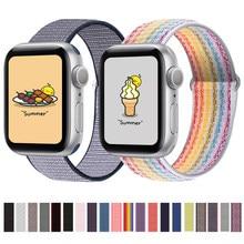 Cinta de náilon para apple relógio banda se 6 5 44mm 40mm pulseira de relógio smartwatch cinto esporte loop pulseira iwatch banda série 3 4 42mm 38mm