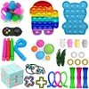 Rainbow Floral Fidget Toys Anti Stress Juguetes Push Bubble Poppet Toys For Adult Autism Needs Antistress Toy Brinquedos