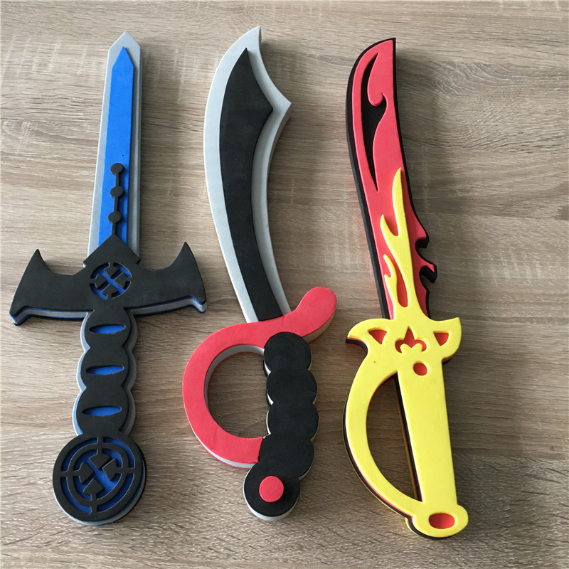 EVA Pirate Sword Birthday Outdoor Safety Weapon Children Soft Anime Game Cosplay Fight Foam Toys For Festival0.3kg