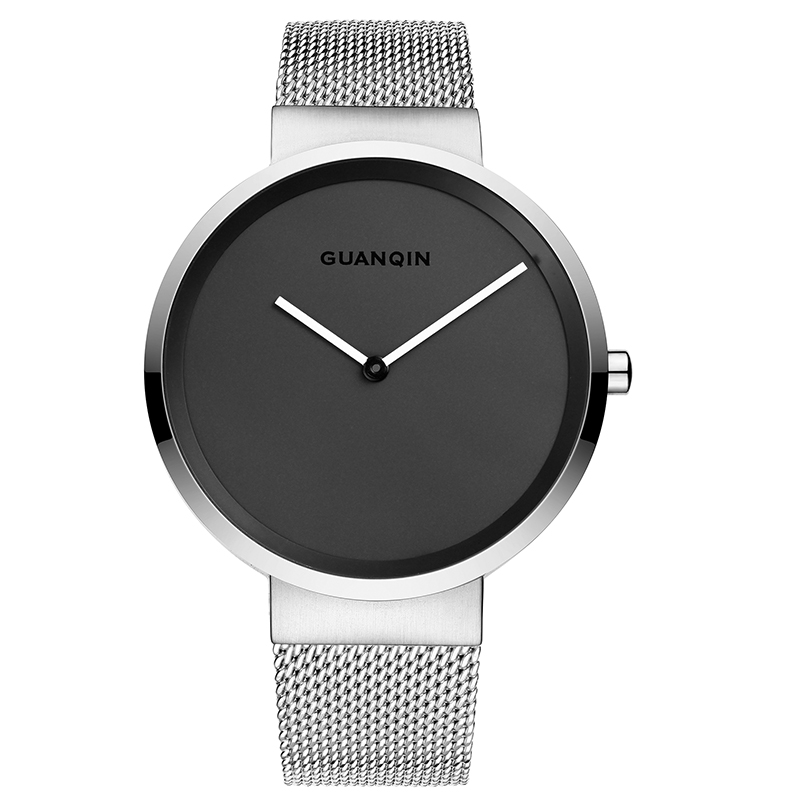 GUANQIN GS19059 watches men luxury brand Watch Men's Slim Casual Waterproof Simple Fashion Personality Quartz Watch Steel|Quartz Watches| |  - title=
