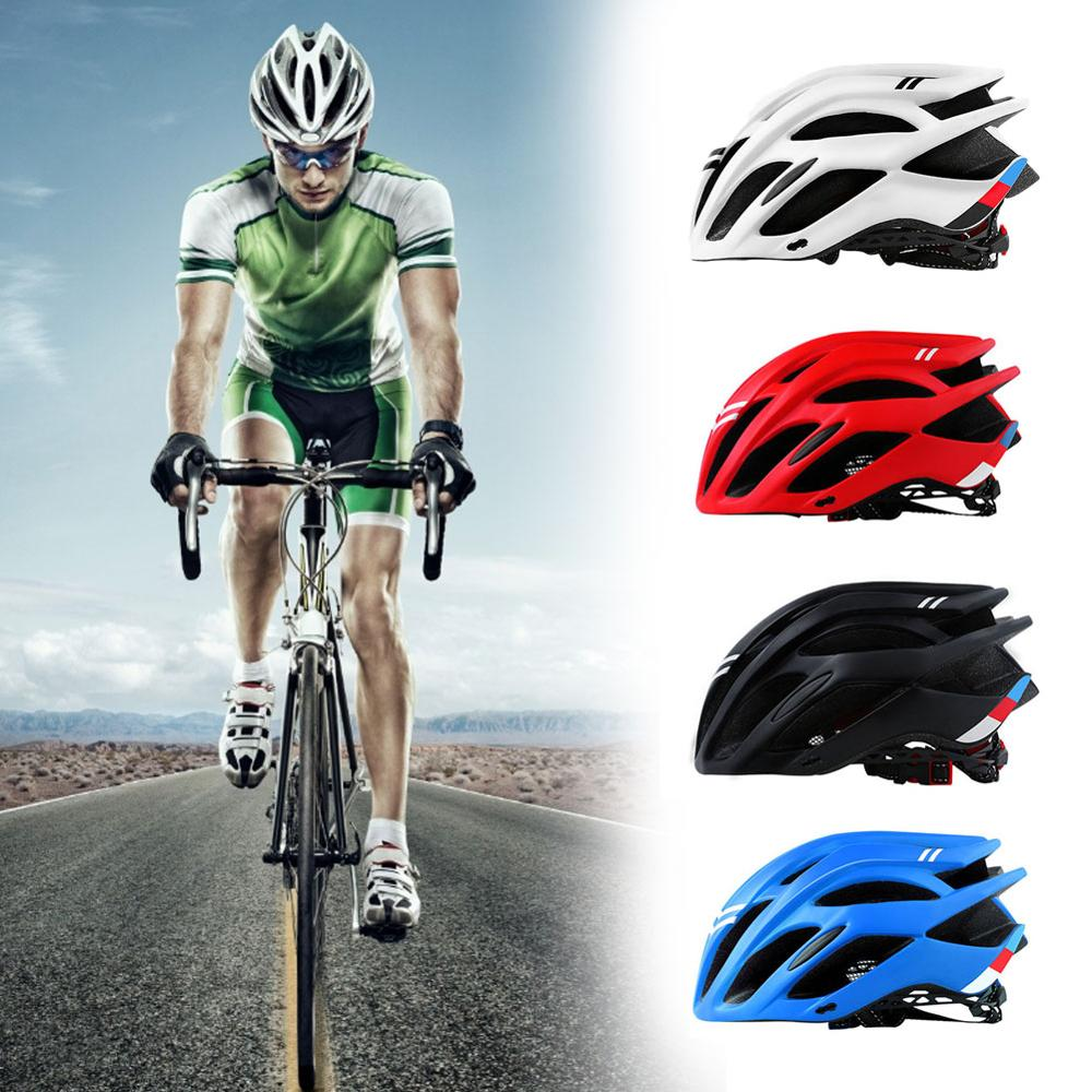 2020 Bicycle Cycling Helmet Ultralight EPS+PC Cover MTB Road Bike Helmet Integrally-mold Cycling Helmet Cycling Safely Cap CSV