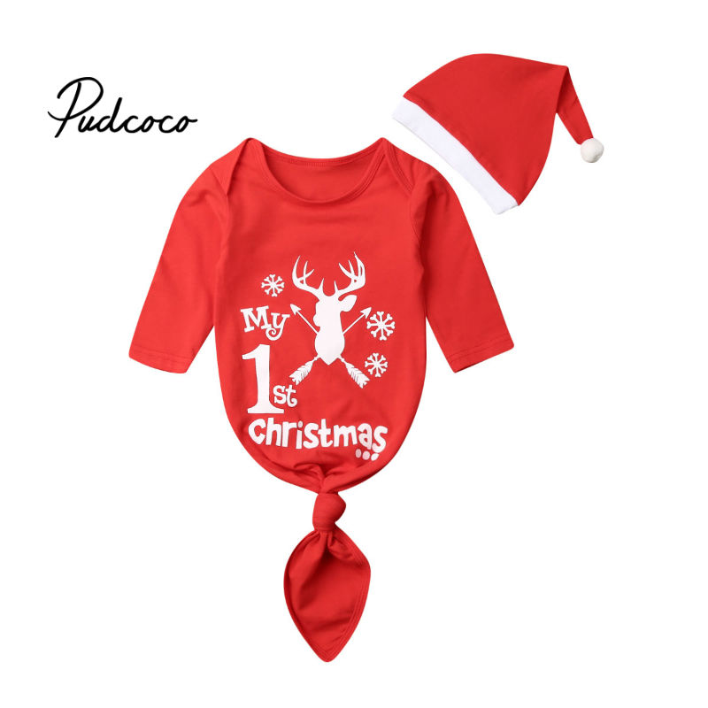 0-24M 2019 Christmas Newborn Baby Swaddle Wrap Swaddling Christmas Sleeping Bag New Year's Printed Blanket Outfits Xmas Gifts