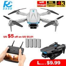 Rc dron s89 pro mini zangão com 4k hd câmera dupla 1080p wifi fpv dobrável dron altura hold mais novo brinquedo quadcopter presente pk e525