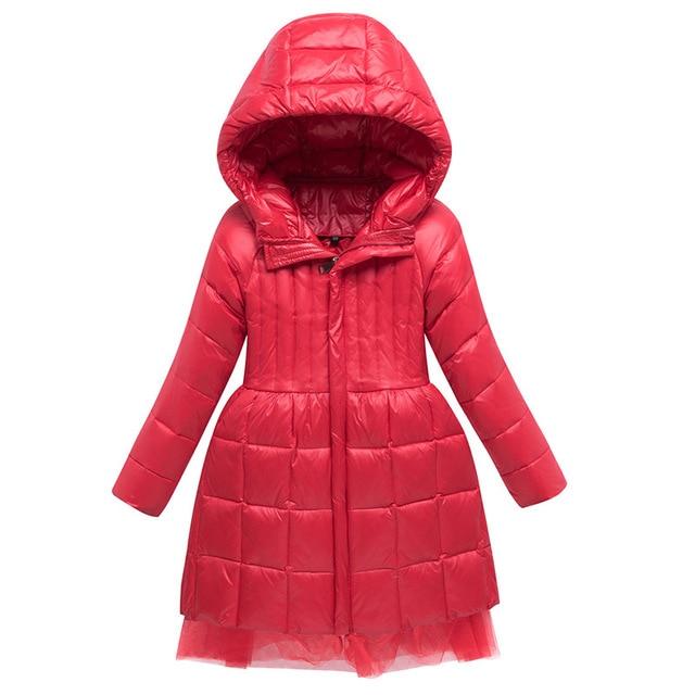חם אופנה של הילדה למטה מעילים ארוך דגם ילדי אמיתי למטה מעיילי מעיל ילדי נער עבה למטה הלבשה עליונה עבור קר חורף