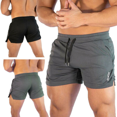 Goocheer Casual Men's GYM Shorts Training Running Sport Workout Jogging Pants Trousers Fitness Men Shorts