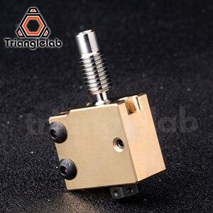 Image 3 - Trianglelab真鍮火山ヒーターブロック硬化鋼火山ノズルチタン合金熱ブレーク高温キットPT100