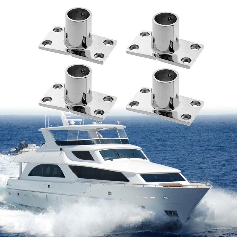 Flagpole Holder Socket Base AISI 316 Stainless Steel Pole 20mm Marine Boat Yacht