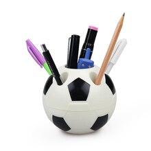 Принадлежности для инструментов в форме футбола, держатель для карандашей, Футбольная форма, держатель для зубных щеток, Настольная стойка, украшение для дома, подарки для студентов