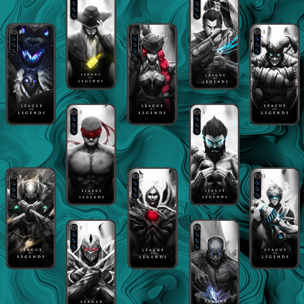 LOL League of Legends Game Phone Case For Xiaomi Redmi Note 7 8 8T 9 9S 4X 7 7A 9A K30 Pro Ultra black Cell Soft Coque Trend
