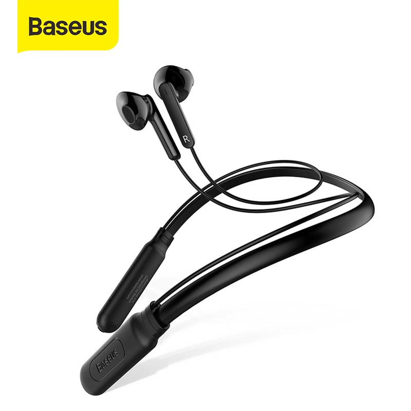 Baseus S09 Bluetooth Earphone Wireless IPX5 Waterproof Earphones Neckband Fone de ouvido Sports Headset Stereo Earbuds Earpieces|Phone Earphones & Headphones| |  - AliExpress