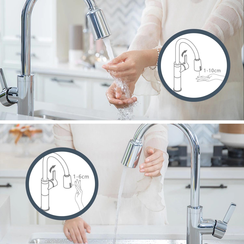 automatic kitchen faucet motion sensor adapter tap sensor touchless sprayer head usb recharged smart faucet bathroom sink faucet