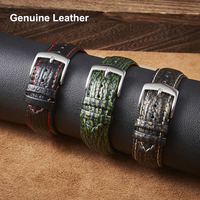 Echtes Leder Uhrenarmbänder 22mm für Galaxy Uhr Getriebe S3 Amazfit Huawei GT 2E Ehre GS Pro Shark Textur Armband echt Leder Band