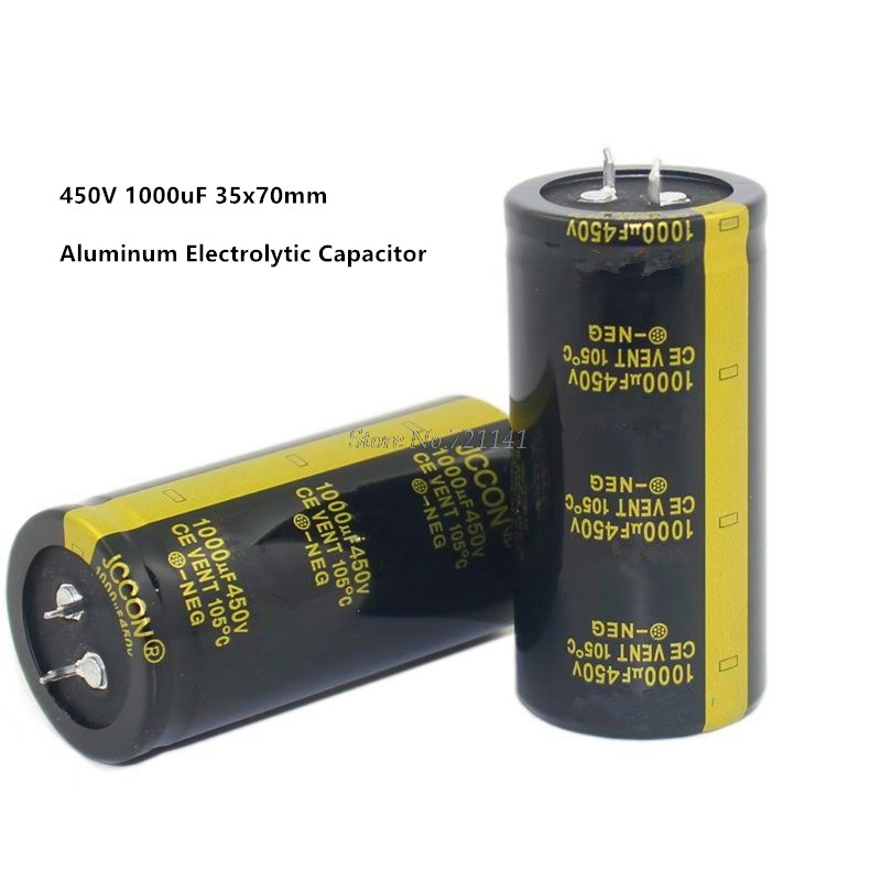 Aluminum Electrolytic Capacitor 450V 1000uF 35X70mm High Frequency Low ESR -40 - 105 C/-40 - 221 F Through Hole Capacitor