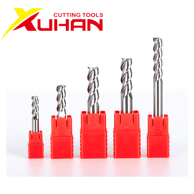 HRC55 3 Flute Carbide End Mill Aluminum Copper Wood Cutter Endmills Cnc Milling Tools Tungsten Steel Milling Cutter EndMill