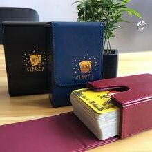 Boîte de rangement de cartes de Tarot, Portable, anti-poussière, organisateur de rangement, Double couche en cuir PU, jeu de société, accessoires de voyage universels à couvercle rabattable