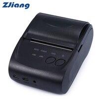 ZJiang ZJ-5802LD Mini Bluetooth termal makbuz yazıcı 58mm 1500mAh 90mm/sn desteği Logo marka termal barkod yazıcı