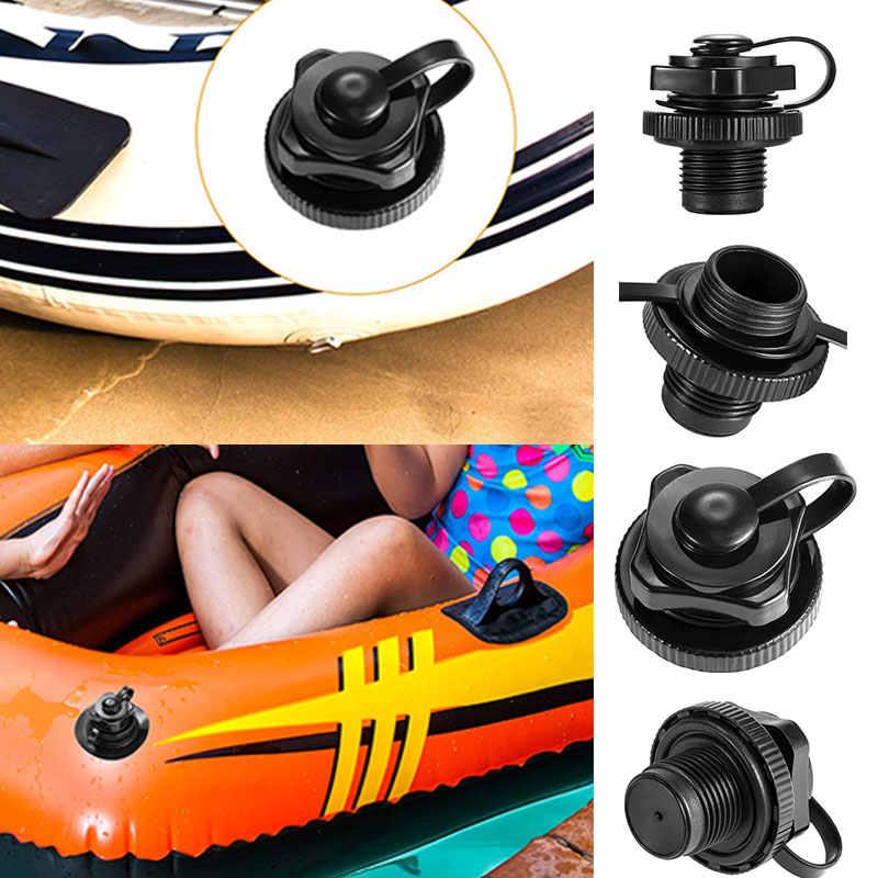 5 Pcs Screw Air Plug Cap for intex Inflatable Boat Dinghy Mattress Black