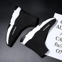 Zapatos De calcetín originales para hombre y Mujer, zapatillas deportivas De entrenamiento De velocidad, informales, a la moda, color negro y rojo, novedad