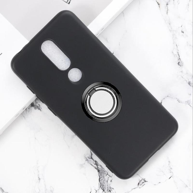 For BQ 5732L Aurora SE BQ5732L AuroraSE Back Ring Holder Bracket Phone Case Smartphone TPU Soft Silicone Cover