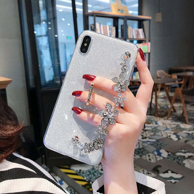 Luxury Glitter Bracelet Case For Samsung Galaxy J1 A2 A9 A8 A7 A6 A5 A3 2018 2017 2016 Plus Star Pro Lite Core A9S Ace Covers in Phone Bumpers from Cellphones Telecommunications