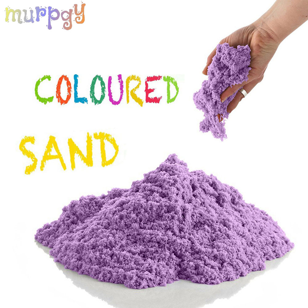 100g/Bag Magic Dynamic Sand Toys Clay Super Colored Soft Slime Space Play Sand Antistress Supplies Educational Toys for Kids(China)