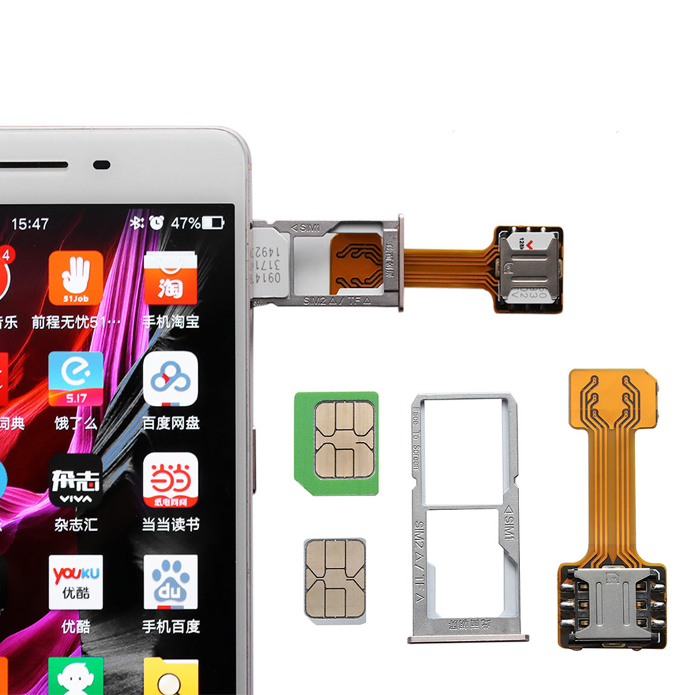 Sim-Card-Adapter Phone-Accessories-Supplies Hybrid Sim-Slot Micro-Sd-Extender Nano-Cato title=