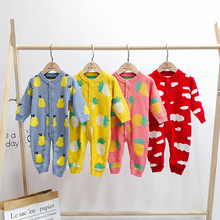 Комбинезон для маленьких девочек; Одежда для новорожденных; трикотажный комбинезон с длинными рукавами для маленьких мальчиков; Одежда для новорожденных малышей комбинезоны для новорожденных; костюм