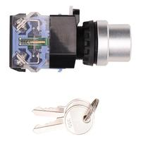 Key Lock Switch 10 Pcs BEM38 20Y/33 3 Position 22mm Key Switch on/off/on Automatic Reset Key Switch