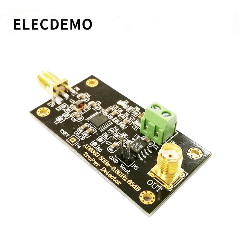 AD8362 Module 3.8GHZ RF Radio Frequency Detector Power Detection RMS Detector Linear DB Output Function Demo Board