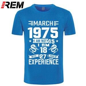 Image 5 - 1975 ANNI di Settembre Ottobre Novembre Dicembre degli uomini della camicia Manica Corta T shirt Stampata Casual Moda Gennaio Febbraio Marzo