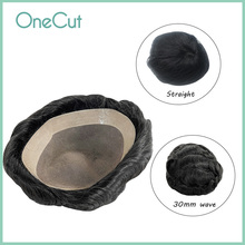 Men Toupee Mono PU Base Male Wigs Hair Prosthesis Human Hair Replacement System Unit Natural Hairpieces Homme Peruk D7-3 Toupee