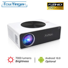 TouYinger Q9 LED Home Cinema 1080P Video Projector Full HD 7000 Lumens ( Android 10.0 Wifi Bluetooth Optional ) LCD Movie Beamer
