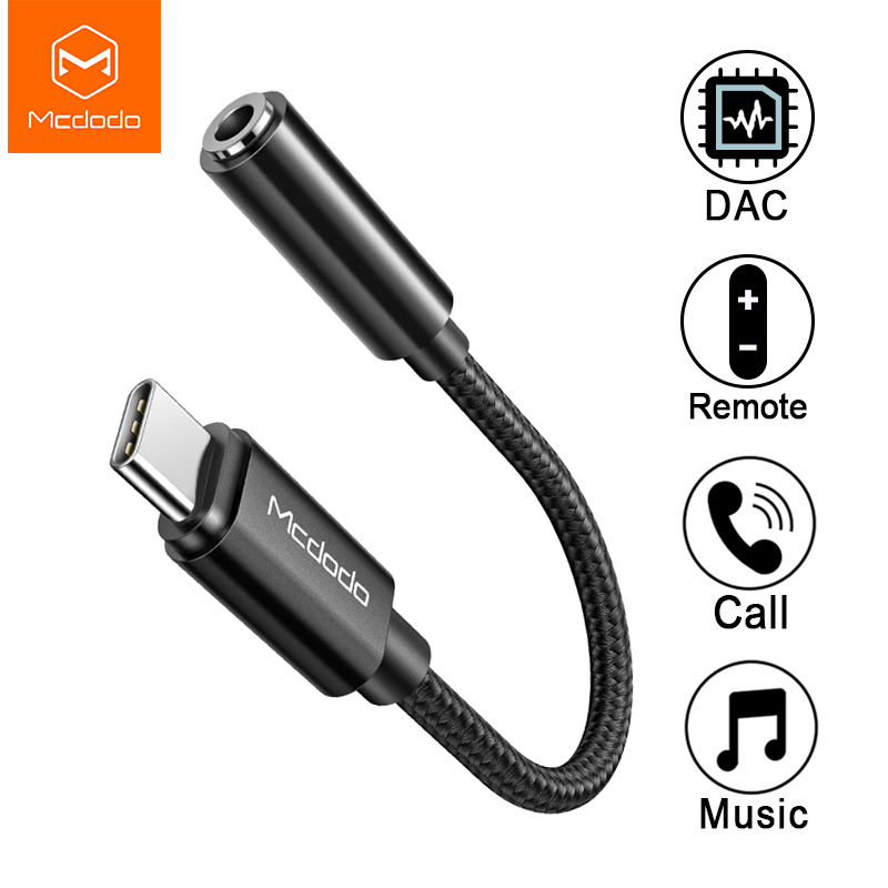 Mcdodo HIFI DAC Audio Aux Cable USB Type C To DC3.5mm Headphone Jack OTG Adapter For IPad Pro Macbook Samsung S10 Huawei Xiaomi