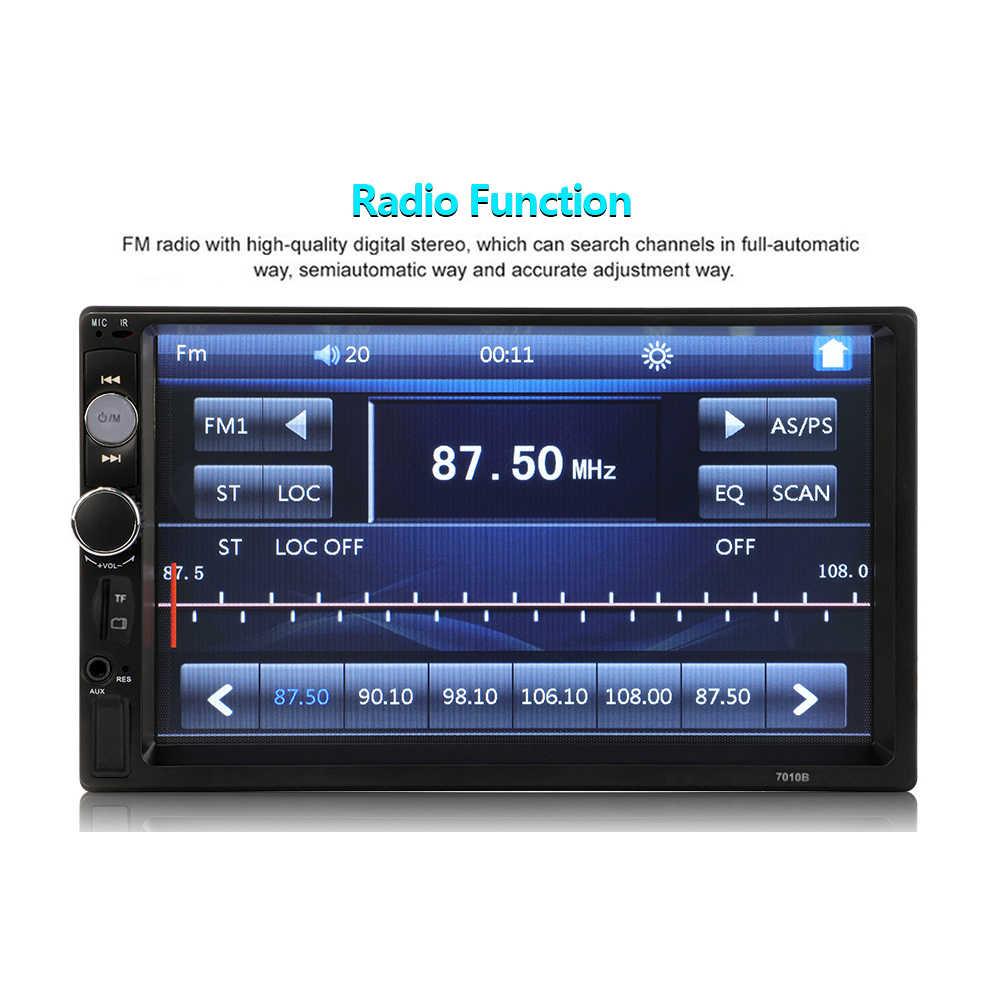 "2 Din Stereo Receiver 2din Mobil Radio Autoradio 7 ""Hd Menyentuh Layar 12V Mobil Stereo Player Bt dengan remote Control 7010B 7018B"
