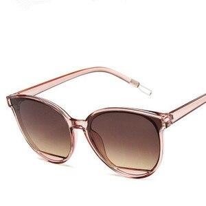 New Classic Oval Red Women Sunglasses Female Vintage Luxury Plastic Brand Designer Cat Eye Sun Glasses UV400 Fashion for driver