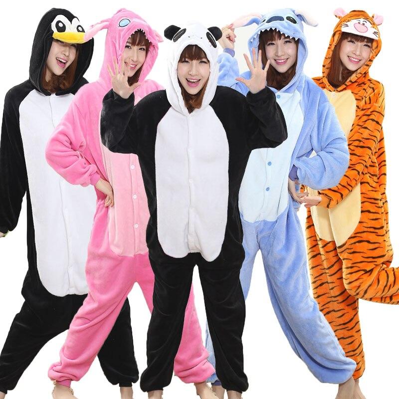 Panda Kigurumi Onesie Adult Teenagers Women Pijama Pajamas Funny Flannel Warm Soft Sleepwear Overall Onepiece Jumpsuit