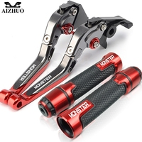 Motorcycle Accessories Brake Clutch Lever+Handle Grip Hand Bar Grips For Ducati Monster 696 695 796 400 620 M600 M900 M620 Lever
