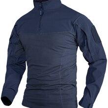 WOLFONROAD охотничьи футболки с длинными рукавами, тактические рубашки для полиции, Мужская футболка для тренировок, рубашка с карманами на молн...