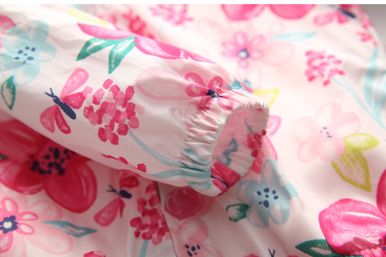 Spring and Autumn2020 New Cotton Baby Girls Coat Spend Three Flowers Lollipops Dot Jacket Cardigan Kids Children Clothing