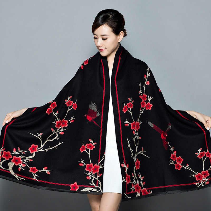 צעיף נשים של עיבוי חם פשמינה קשמיר צעיף Oversize רך צעיף צעיף תכליתי שמיכת bufanda mujer