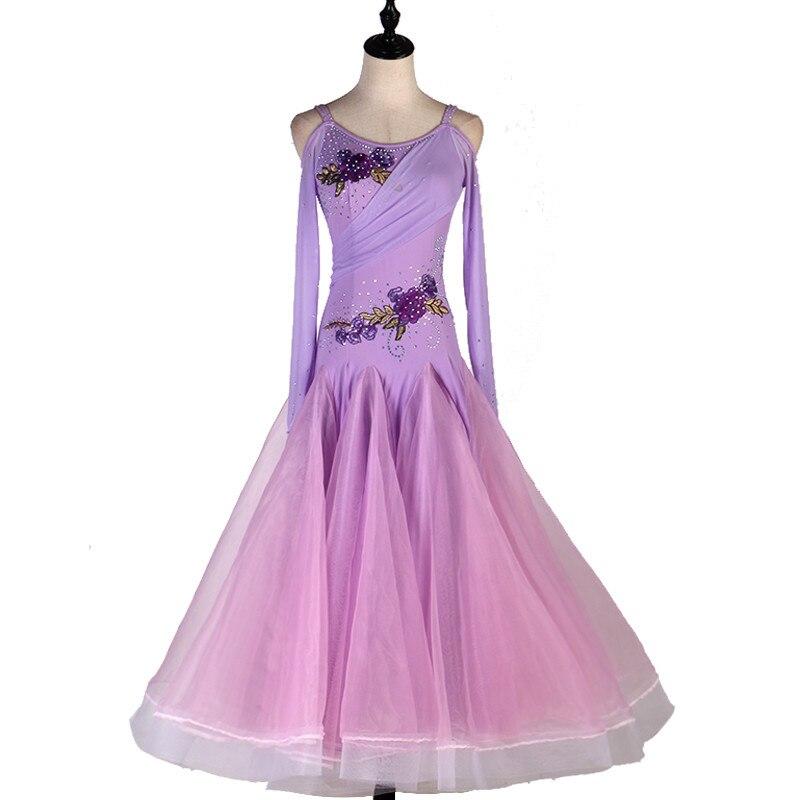 2019 Ballroom Dance Competition Dresses Women Standard Dance Dresses Spandex Ballroom Dance Dresses Standard Customizable Size