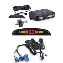 Car Led Parking Sensor Parktronic Display 4Sensors Reverse Backup Monitor System