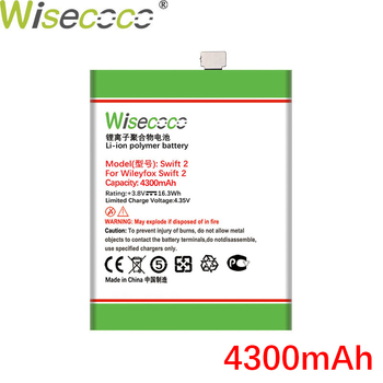 WISECOCO 4300mAh Battery For Wileyfox Swift 2 /2 Plus SmartPhone In Stock High Quality +Tracking Number wisecoco bv9000 2pcs 7150mah new produced battery for blackview bv9000 bv 9000 pro high quality phone battery replace tracking