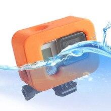 حافظة لهاتف GoPro Hero 4 3 + أسود فضي حافظة كاميرا لحماية السباحة من Go Pro 3 + 4 ملحقات