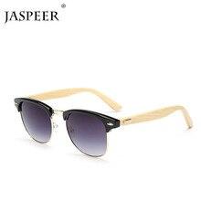 JASPEER Mens Sunglasses Polarized Walnut Wood Mirror Lens Su